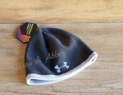 Under Armour ~ Boys Youth ~ Coldgear Infrared Storm Beanie ~ One Size ~ NWT