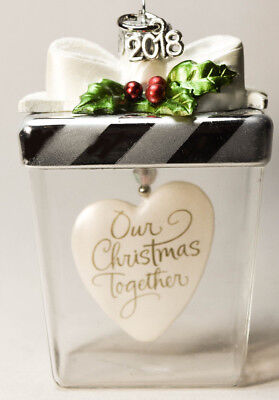 Hallmark - Our Christmas Together - Heart In Glass Gift Box - 2018 Ornament