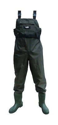 Size 12 Wildfish Chest Wader-Tough Nylon/PVC Fishing Wader with Integrated Boot