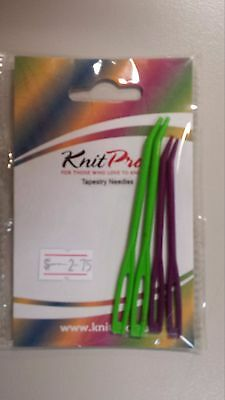 Knit Pro Tapestry Needle Set Four Wool Needles Purple & Green N010806