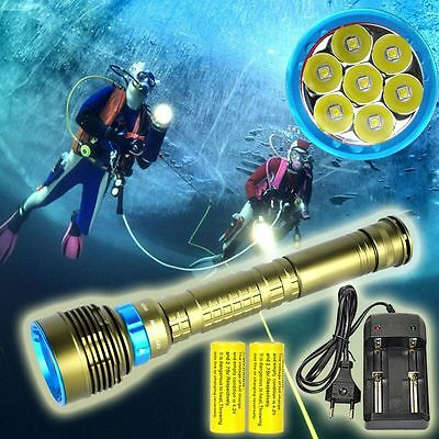 20000Lm 7x XM-L2 LED Diving Flashlight Torch Waterproof 3x26650 Underwater 200M