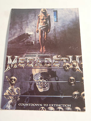 Carte Postale Megadeth Countdown To Extinction