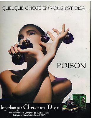 Publicité Advertising 1987 Parfum Poison par Christian Dior