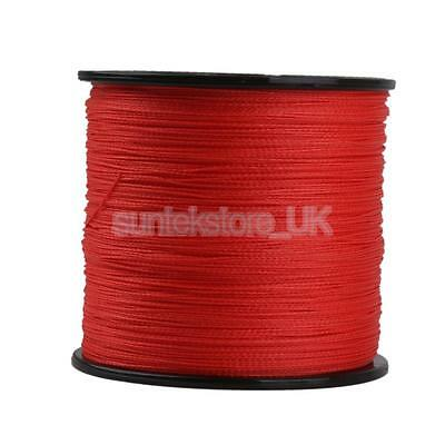 Red 300M 0.32mm 50LB Super Strong 100% PE Braided Lines Sea Fishing Line New