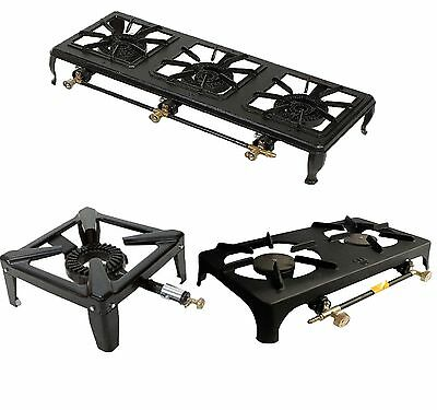 Butane Gas Stove Cast Iron 3 Sizes Cooker Grill Camping Portable Heater Outdoor