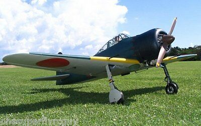 """Japanese Zero 91"""" WS 1/4 Scale RC Airplane Full Size PRINTED Plans & Templates"""