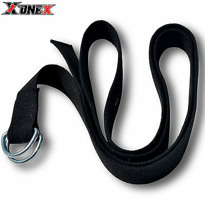 D-Ring Cotton Yoga Stretch Strap Training Belt Leg Fitness Exercise Gym