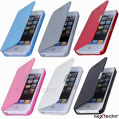 Magnetic Flip Leather Hard Skin Pouch Wallet Cover Case For iPhone 5 5S