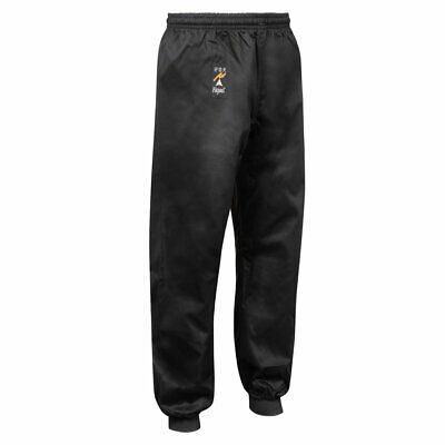 Playwell Kung Fu Cotton Trousers Black Cuffed Bottoms Martial Arts Adults Pants