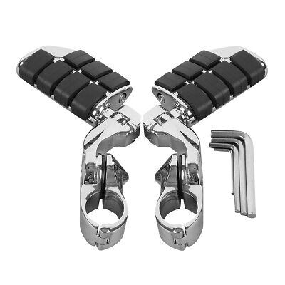 "1.25"" Chrome Adjustable Highway Short Mount Foot Pegs For Harley Touring Models"