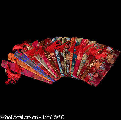 Wholesale 20 Pcs Chinese Handmade Mix-Color Silk Embroid Fan Covers/bags