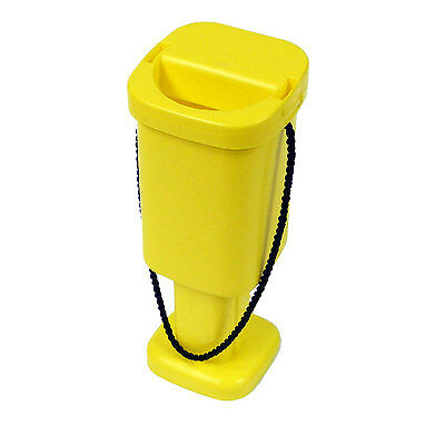 Square Charity Money Collection Box - Yellow - Brand New Fundraising Accessory
