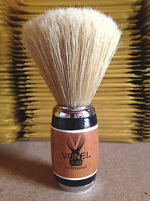 Vonel Shaving Brush Wooden Hand Made Pure Natural Bristle Small Medium Large
