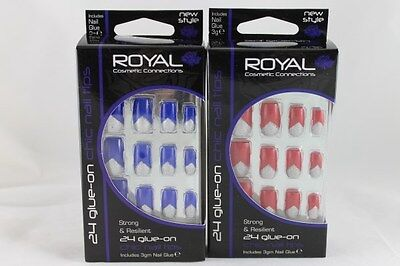 Royal Cosmetics Chic Nail Tips with Glue World Wide Free Postage