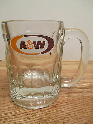 "Vintage A & W ROOTBEER Small 4.25"" Glass Mug"