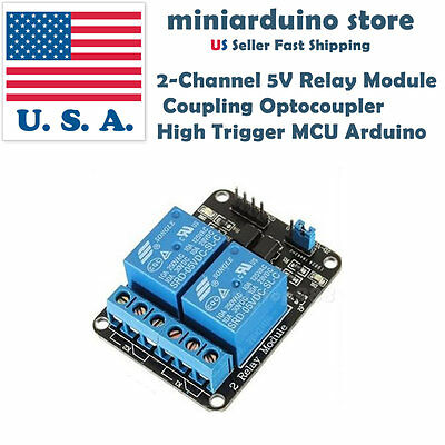 2 Channel Relay Module 5V With optocoupler For PIC AVR DSP ARM Arduino OT8G