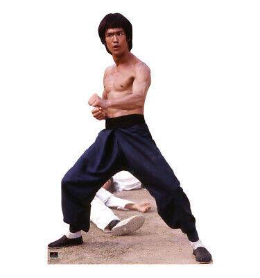 Bruce Lee Fight Stance Life Size Cardboard Cutout Standup