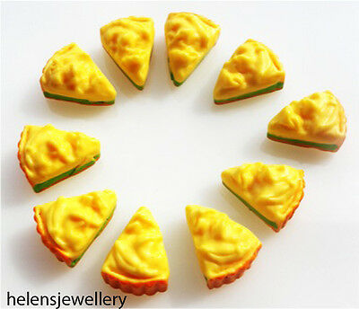 8 Gorgeous Durian Cakes Cabochons Kawaii Decoden - Free & Fast Shipping