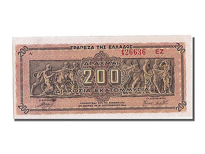 [#201375] Greece, 200,000,000 Drachmai, 1944, KM #131a, 1944-09-09, UNC(65-70)