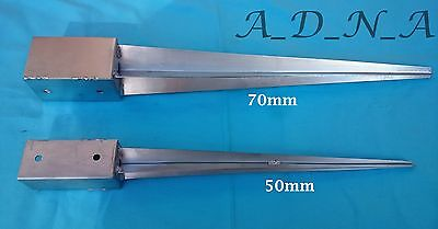 """2"""",3""""Fence Post Grip Support Spike Galvanised Heavy Duty Drive-in Holder 50,75mm"""