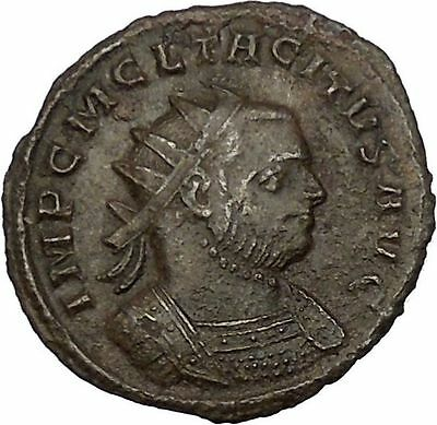 Tacitus shaking hands with Concordia 275AD Very rare Ancient Roman Coin i52069