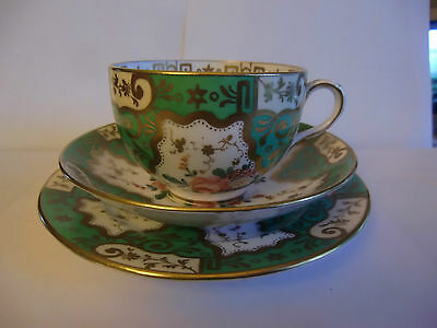 Superb 19th Century Crown Staffordshire Hand Painted Trio cup saucer  side plate