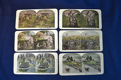 Lot Of Six ANTIQUE WWI STEREOVIEW Cards