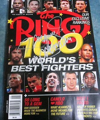 MANNY PACQUIAO Ring magazine silver INK authentic AUTOGRAPH January 2016 signed