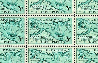 ANNAPOLIS (1949) - Full Mint -MNH- Sheet of 50 Vintage Postage Stamps