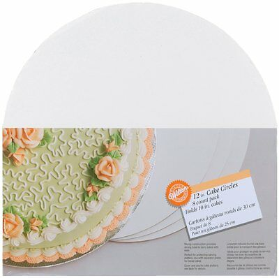 Wilton 12-Inch Cake Circle, Boards 8-Pack, 2104-129