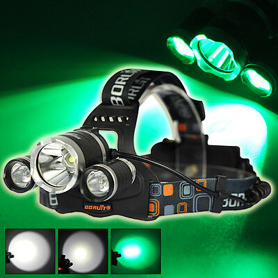 Boruit RJ-3000 8000LM T6+2R2 Headlamp LED 18650 Headlight Torch Outdoor Hunting