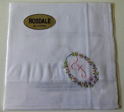 """Rosdale handkerchief embroidered with the letter """"F"""""""