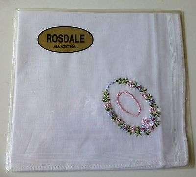 """Rosdale handkerchief embroidered with the letter """"O"""""""
