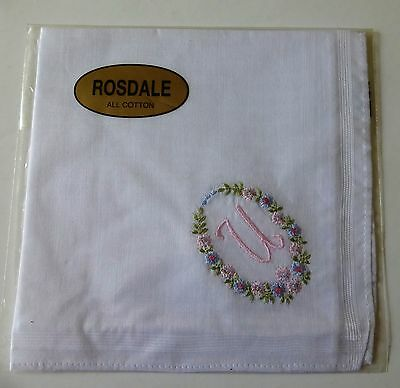 """Rosdale handkerchief embroidered with the letter """"U"""""""