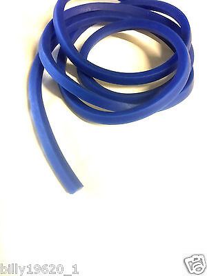 5 MM Square  catapult elastic Replacement bands for catapults slingshots BLUE