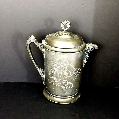1897 - 1904 Quadruple Plate Silver Toothiller & McBean Ice Water Pitcher