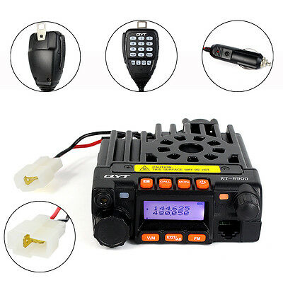 DE 20W UHF+VHF 25W Mobile Vehicle Radio Dual Band With Portable Mic for Bus Car