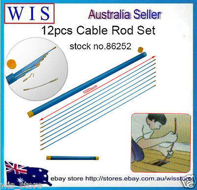 10m Fibreglass Electricians Push Pull Rods Cable Cavity Contractors Wire Running