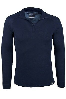 Mountain Warehouse T-shirt à manches longues homme Merino base layer thermique