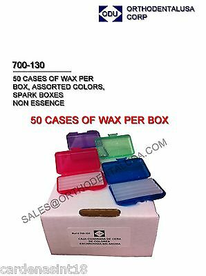 RELIEF MINI WAX MINT 50 pack per BOX ORTHODONTIC SUPPLIES made in USA Ref.10464