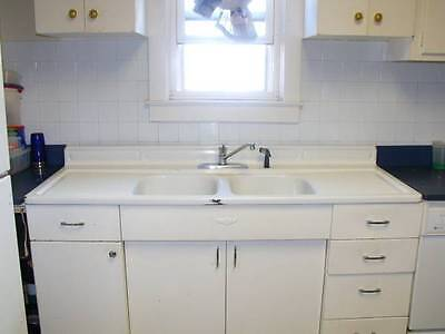 Vintage Double Sink Youngstown Cast Iron