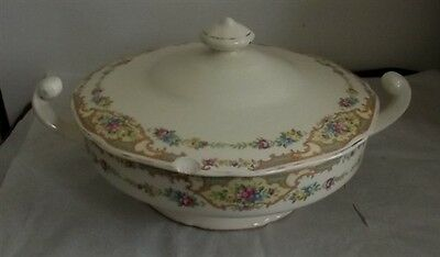 Homer Laughlin Covered Vegetable Bowl Unknown Pattern
