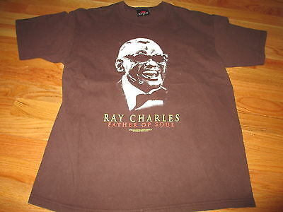 """2005 RAY CHARLES """"FATHER OF SOUL"""" (LG) T-Shirt"""