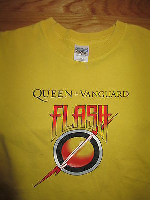 "QUEEN & VANGUARD ""FLASH"" Gordon (MED) T-Shirt FREDDIE BRIAN ROGER JOHN"
