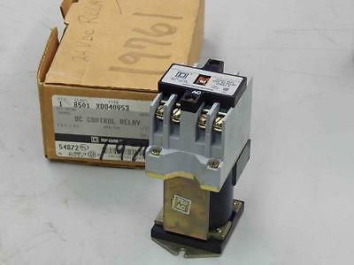 #467 Square D 8501-XD040V53 DC Control Relay 24Vdc Coil Ser A Open Type  NEW