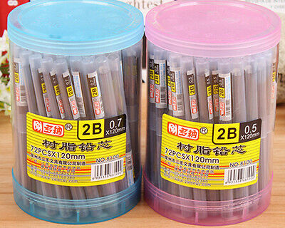 New Style 2B HB Lead a Refill Tube 0.5 mm / 0.7 mm Automatic Pencil Lead