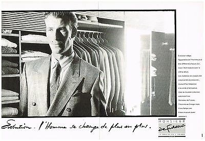 2 Pages Pret à Porter Homme Monsieur De Fursac Publicité Advertising 1988