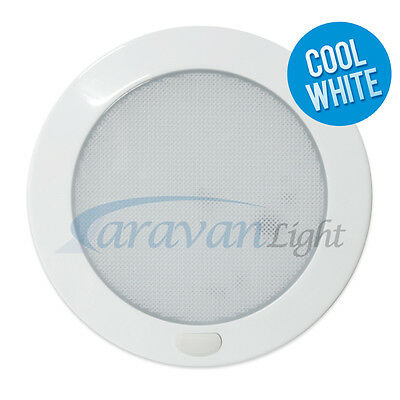 12v 127mm Dia LED Down Light Ceiling Cool White Switched Interior Caravan Camper