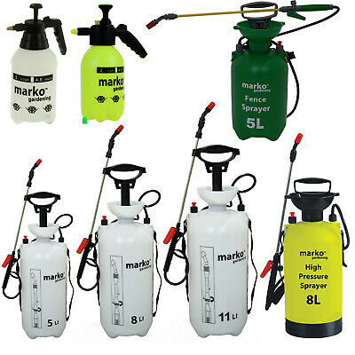Pressure Sprayers Outdoor Garden Chemical Weed Control Fence 2L 5L 8L 11L Ltr