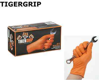 90 x Tiger Grip Orange *Quality Nitrile* Gloves - Workshop Approved - XXL Size